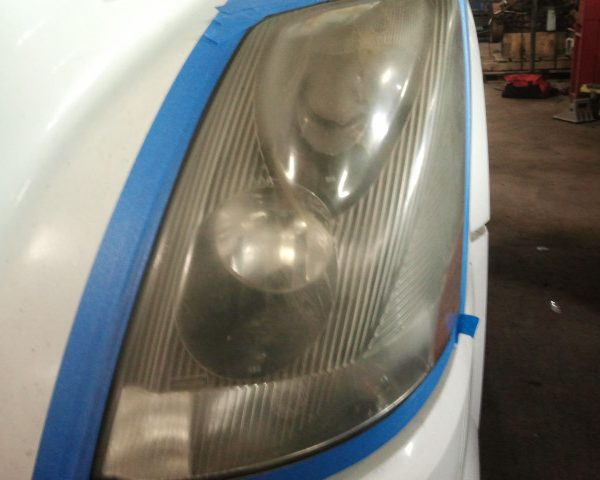 Before Headlight Restoration